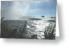 Mist At The Falls Greeting Card