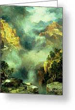 Mist In The Canyon Greeting Card
