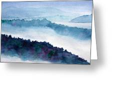 Mist On Howe Sound Greeting Card
