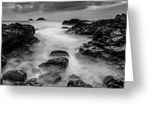 Mist On The Water In Monochrome Greeting Card