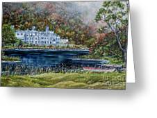 Mist Over Kylemore Abbey Greeting Card