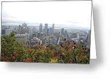Mist Over Montreal Greeting Card