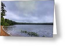 Mist Over Nicks Lake Greeting Card