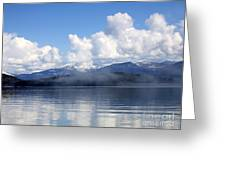 Mist Over Priest Lake Greeting Card