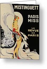 Mistanguette At The Casino De Paris Greeting Card