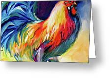 Mister Show  Rooster Art Greeting Card