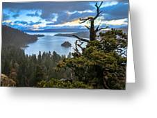 Mistic Tahoe Sunrise Greeting Card