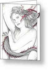 Mistress Of The Dragon Greeting Card