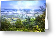 Mists In The Valley Greeting Card