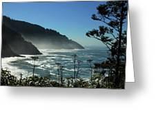 Misty Coast At Heceta Head Greeting Card