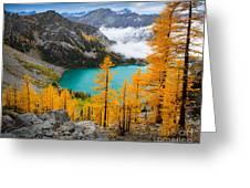 Misty Colchuck Lake Greeting Card