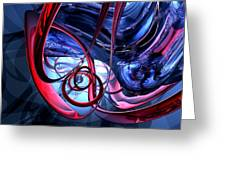 Misty Dreams Abstract Greeting Card