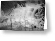 Misty Icy Waterfall Greeting Card