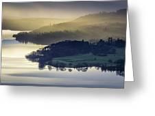 Misty Lake Windermere Greeting Card