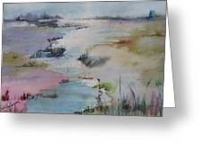 Misty Marsh Greeting Card by Dorothy Herron