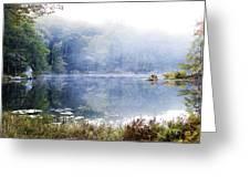 Misty Morning At John Burroughs #1 Greeting Card