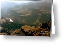 Misty Morning At The Grand Canyon  Greeting Card