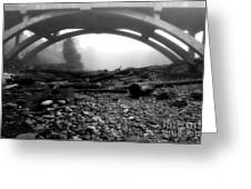 Misty Morning In Black And White Greeting Card