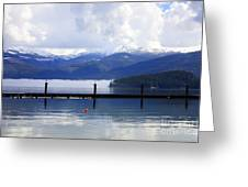 Misty Morning On Priest Lake Greeting Card