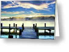 Misty Morning On Rock Creek Greeting Card