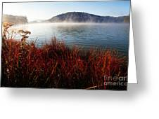 Misty Morning On The Lake Greeting Card