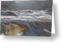 Misty Morning On The River Greeting Card