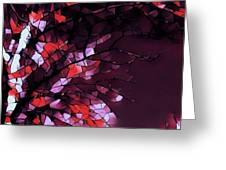 Misty Morning-purple And Red Greeting Card