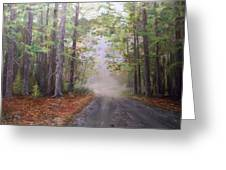 Misty Morning Road Greeting Card