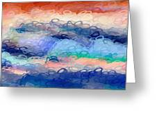 Misty Mountain Bubbles Greeting Card