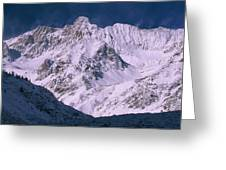 Misty Mountain Peaks Greeting Card