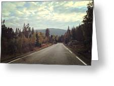 Misty Roads Greeting Card