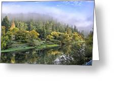 Misty Russian River Greeting Card by Computer Variations