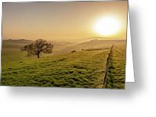 Misty South Downs Way Greeting Card