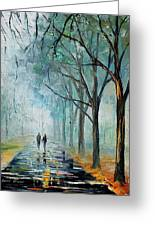 Misty Stroll Greeting Card