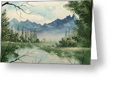 Misty View Greeting Card