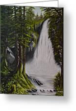Misty Waterfall Greeting Card
