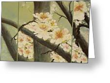 Mistymorningblossom Tryptic Greeting Card
