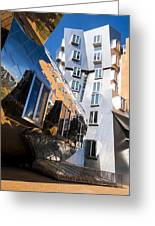 Mit Stata Center Cambridge Ma Kendall Square M.i.t. Reflection Greeting Card
