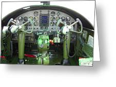 Mitchell B-25 Bomber Cockpit Greeting Card