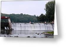 Mitchell Iowa Dam Greeting Card