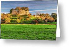 Mitford Castle Beside River Wansbeck Greeting Card