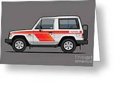 Mitsubishi Pajero Montero Shogun 3 Door Turbo Diesel Greeting Card