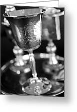 Mitzvah Cup Black And White Greeting Card