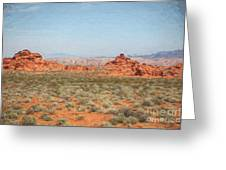 Mix Media Valley Of Fire  Greeting Card