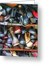 Mix Of Shoes Nyc Greeting Card