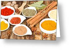 Mix  Of Spices Greeting Card