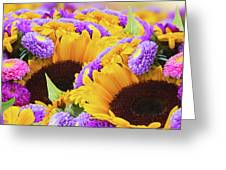 Mixed Autumn Flowers Greeting Card