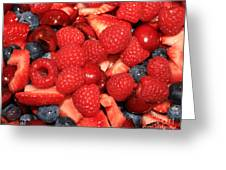 Mixed Berries Greeting Card
