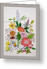 Mixed Floral. Greeting Card