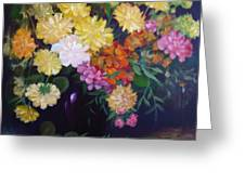 Mixed Flowers Greeting Card